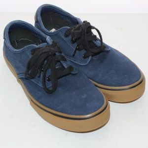 VANS Pro Boys Navy Blue Canvas Skateboarding Shoes
